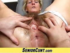 Close-ups of hairy old pussy of czech granny hana movies at kilovideos.com