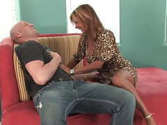 Long legs mature milf with big tits fucks great movies