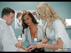 Horny milf nurses at the hospital tubes