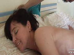 Naughty french mom cougar fucked and plugged by boy n girl videos