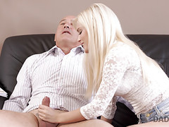 Daddy4k. horny blondie wants to try someone little bit more tubes