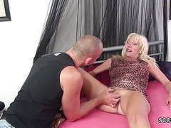 Step-mother seduce step-son to fuck when dad is away tubes