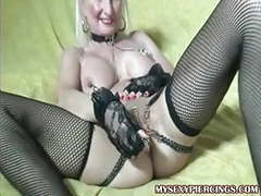 Pierced granny with chains to her pierced pussy lips movies at find-best-panties.com