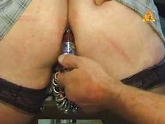 Extremley pierced milf with heavy pussy rings bottle in ass movies at freekiloclips.com