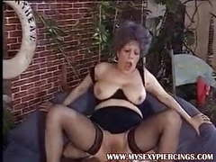 Pierced pussy milf granny taking cock in her asshole movies at find-best-panties.com