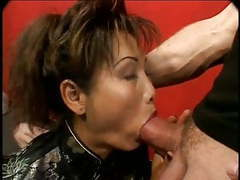 Mature asian gets her ass fucked and gets a facial movies at freekilosex.com