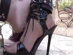 Absolute foot humiliation for lesbian slave movies at find-best-pussy.com