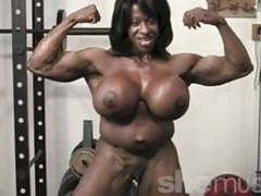 Ebony female muscle videos