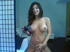 Sexy brunette rides sybian on cam movies at find-best-pussy.com