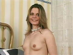 Horny brunette has multiple orgasms on sybian tubes