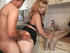 Fuck in the kitchen with blonde dutch milf movies at find-best-hardcore.com