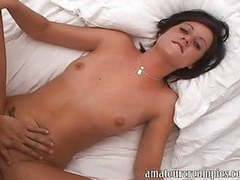Amateur girl gets a creampie during an photo audition movies at freekiloporn.com