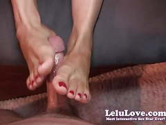 Lelu love-toe sucking footjob cumshot movies