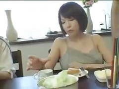 Asian footjob under the table movies