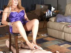 Step-mom gives cuck slick footjob movies at find-best-pussy.com