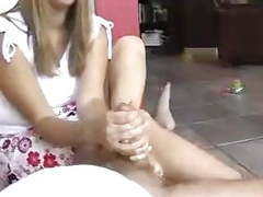 Girlfriend footjob videos