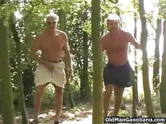 Old men fuck cutie in a forest videos