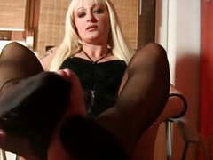 Professional nylon footjob movies at find-best-pussy.com