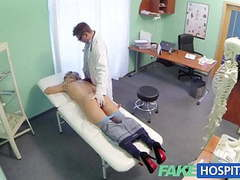 Fake hospital doctor offers blonde a discount on new tits movies at find-best-panties.com