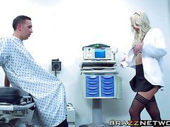 Amazing blonde brooke brand getting pleasured by her patient videos