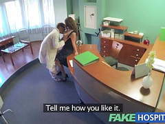 Fakehospital doctors compulasory health check makes busty videos
