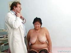 Busty elder woman gyn clinic exam videos