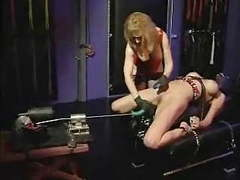 Lesbo bondage and fucking machines videos