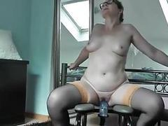 Sabine rides the monkey rocker videos