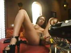Annie cruz fucking machine and squirting over and over tubes