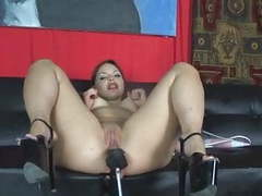Slut fucked in high heels by fuck machine movies at freekiloclips.com