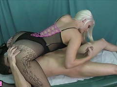 Macy cartel face sitting handjob cum on fishnets videos