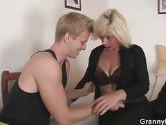 Old blonde is doggy-style fucked tubes