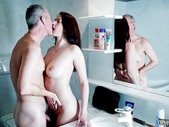 My step sister with big tits fucks grand dad gives him pussy tubes