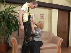 Mature woman fucks the plumber videos
