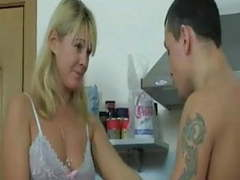 Blonde milf gets nailed in the kitchen movies at kilopics.net