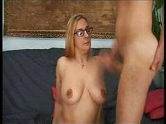 Glasses are sexy old mother gives son a lesson fuck anal tubes