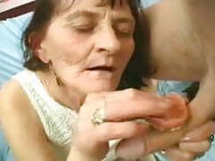 Wrinkly granny plays with a cock videos