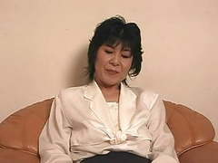 Mature japanese ladie playing tubes at lingerie-mania.com