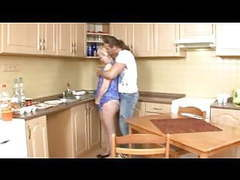 Mature blonde mom fucked by young guy in kitchen movies at sgirls.net