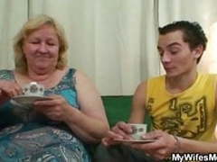 Horny granny seduces her son in law while his wife not home movies at kilovideos.com