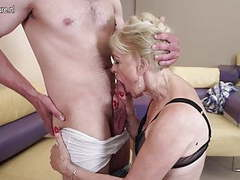 Horny mature slut mom fucking and sucking her boy videos