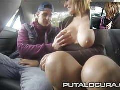 Puta locura big tits milf fucked in a taxi cab tubes