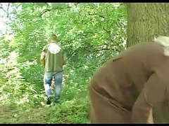Chunky granny's hairy cunt fucked in the woods movies at find-best-pussy.com