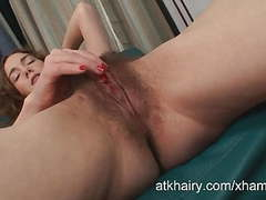 Sammy grand masturbates her all natural hairy pussy tubes