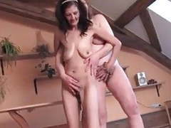 Two lesbian hairy grannies playing with their saggy tits videos