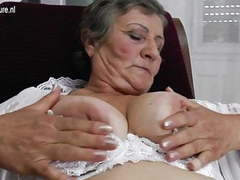 Hairy granny still works her wet pussy movies at find-best-panties.com