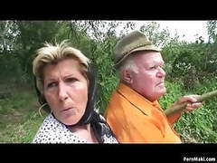 Grandpa fucks busty granny and teen outdoor movies at freekiloporn.com
