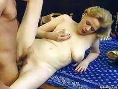 Granny with saggy tits and hairy pussy gets fucked videos