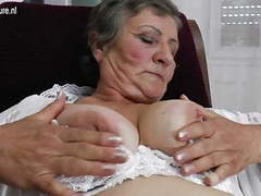 Old grandma with hungry hairy old cunt videos