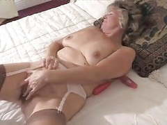 Adorable granny toying in fully fashioned stockings movies at find-best-pussy.com